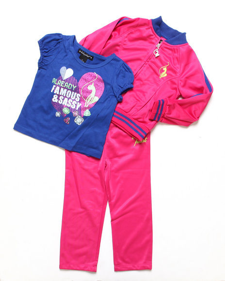 Baby Phat - Girls Pink 3 Pc Tricot Set (2T-4T)