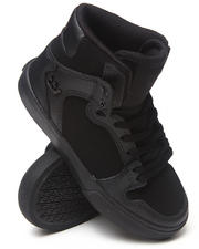 Girls - Vaider Black Leather Sneakers (Youth)