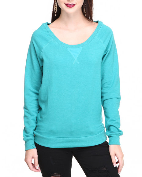 Fashion Lab - Women Teal Jane Camo Sleeves Pullover