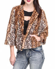 Women - Faux Fur Leopard Print Jacket