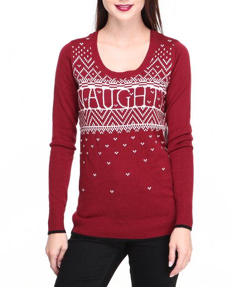 Volcom - Women Maroon Bad Toda Stone Sweater