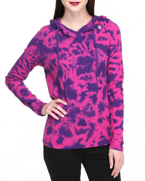 Volcom Pink Back It Up Hooded Thermal