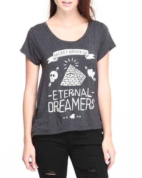 Glamour Kills Black Dreamers Drape Tee