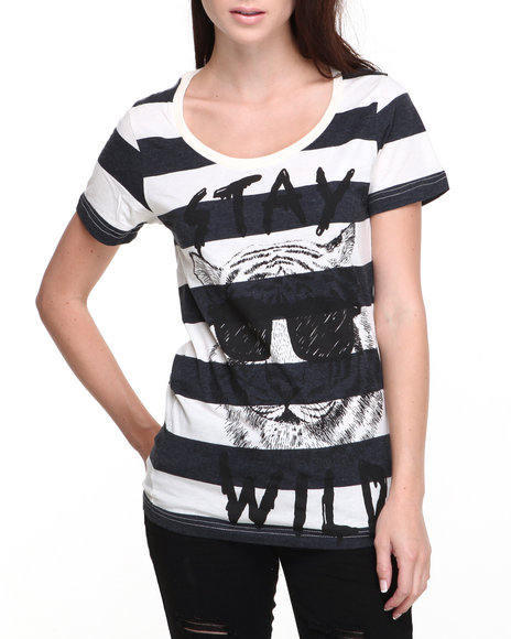 Glamour Kills Black Stay Wild Tee