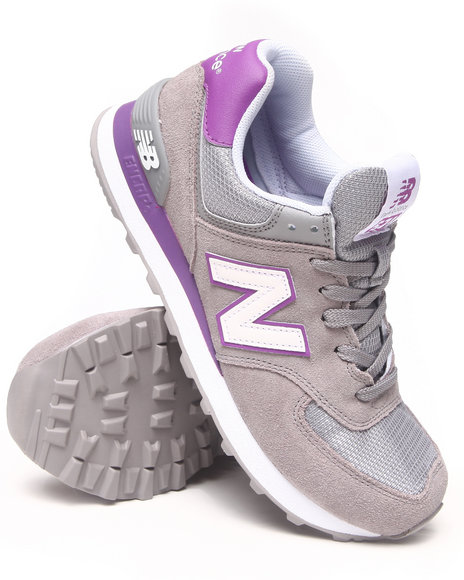 New Balance Grey Womens 574 Sneakers