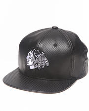 Hats - Chicago Blackhawks Perforated Faux Leather Snapback hat (Drjays.com Exclusive// Limited Edition)