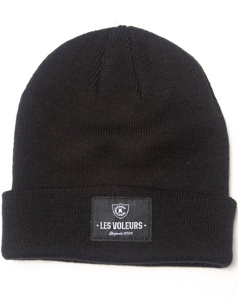 Crooks & Castles Les Voleurs Knit Beanies Black