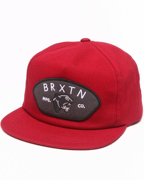 Brixton Waylon Snapback Cap Maroon