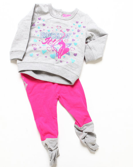 Baby Phat - Girls Pink 2 Pc Flash Dance