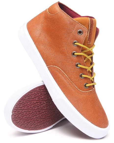 Supra - Men Brown Wrap Up Suede Sneakers