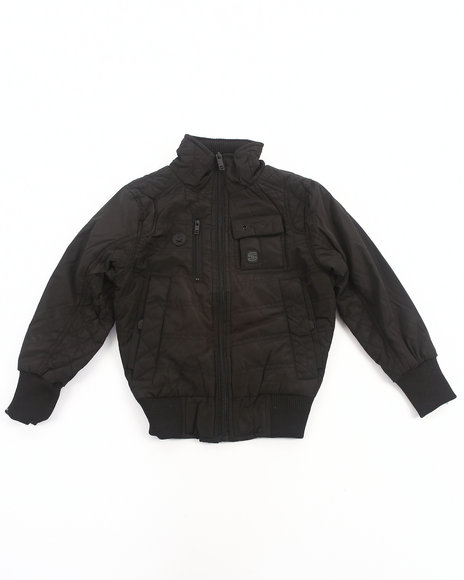 Arcade Styles - Boys Black Mr. Smooth Nylon Jacket (4-7) - $17.99
