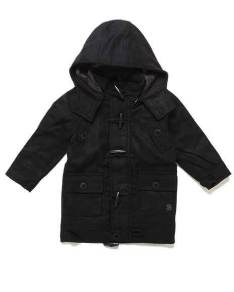 Arcade Styles - Boys Black Late Nighter Toggle Jacket (2T-4T)