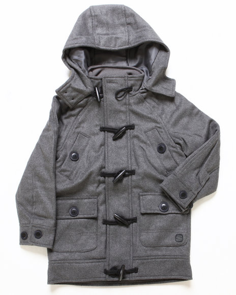Arcade Styles - Boys Light Grey Late Nighter Toggle Jacket (4-7)