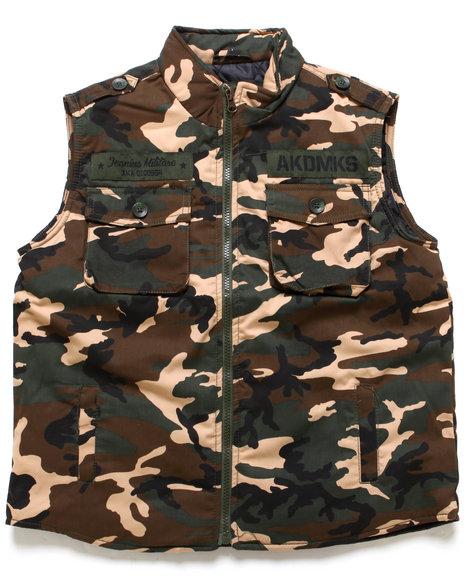 Akademiks Boys Camo Camo Vest (8-20)