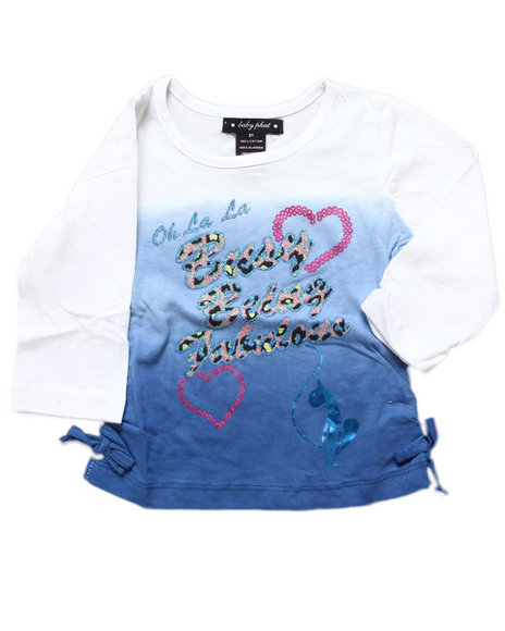 Baby Phat Girls Blue Being Fabulous Tee (2T-4T)