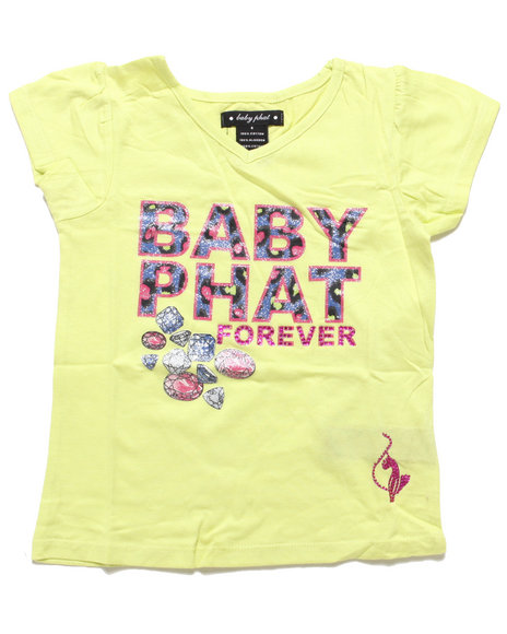 Baby Phat - Girls Lime Green Baby Phat Forever Tee (4-6X)