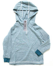 Arcade Styles - L/S HOODED HENLEY (8-20)
