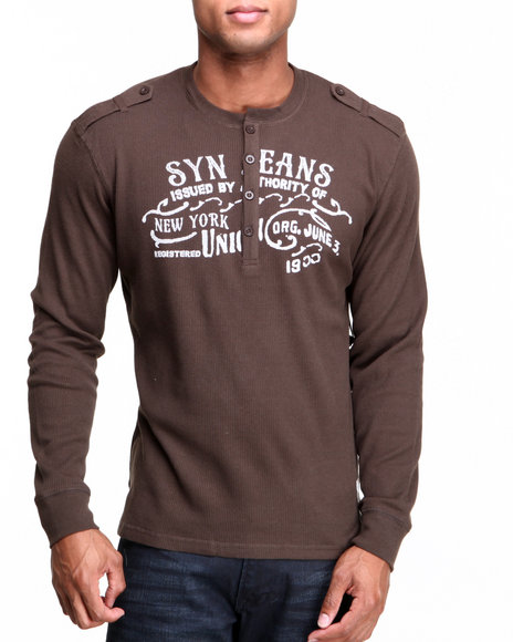 Syn Jeans Brown Military Henley