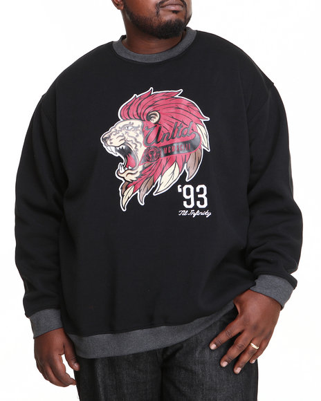 Ecko Black Wild Life Crew Neck Sweater (Big & Tall)