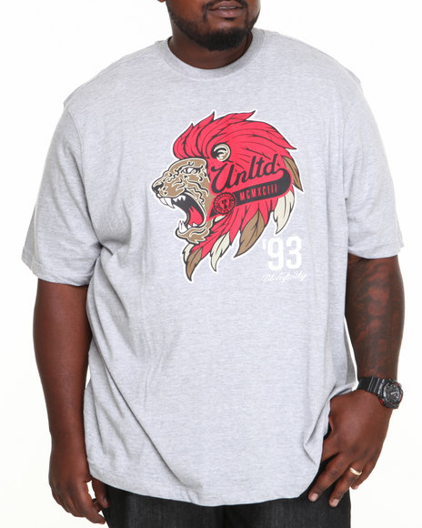 Ecko Grey Wild Life Crew Neck T-Shirt (Big & Tall)