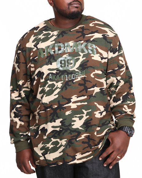 Akademiks Camo Bragg L/S Thermal Shirt (Big & Tall)