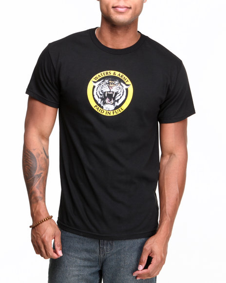 Waters & Army - Men Black Paid In Full Tee