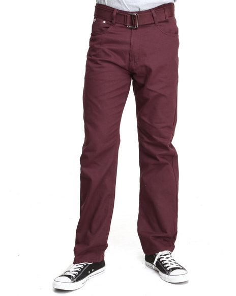 Basic Essentials - Men Maroon Colored Denim Jeans