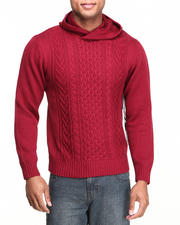 Syn Jeans - Hooded Cable Sweater