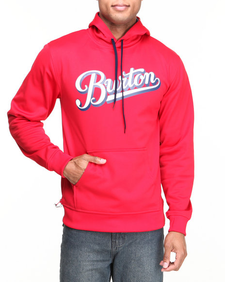 Burton - Men Red Crown Bonded Pullover Hoodie