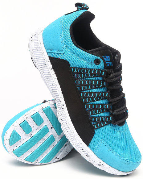 Supra - Men Blue Owen Turquoise Suede Sneakers