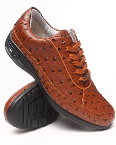 Pelle Pelle - Men Brown All-Over Faux Ostrich Sneaker Shoe