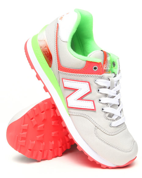 New Balance - Women Grey Rugby 574 Sneakers