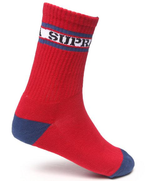 Supra Mark Crew Socks Red