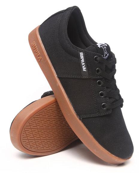 Supra Men Stacks Black Canvas Sneakers Black 10.5