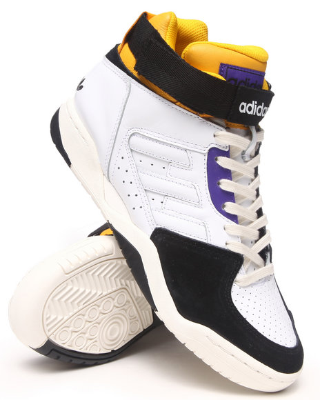 Adidas Black,White Enforcer Mid Sneakers