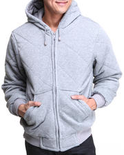 Basic Essentials - Quilted Poly Fill Hoodie