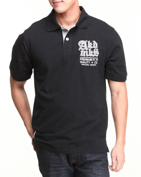 Akademiks - Men Black Russel S/S Pique Polo Shirt - $13.99