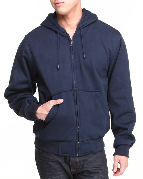 Basic Essentials Men Thermal Lined Hoodie Navy XLarge