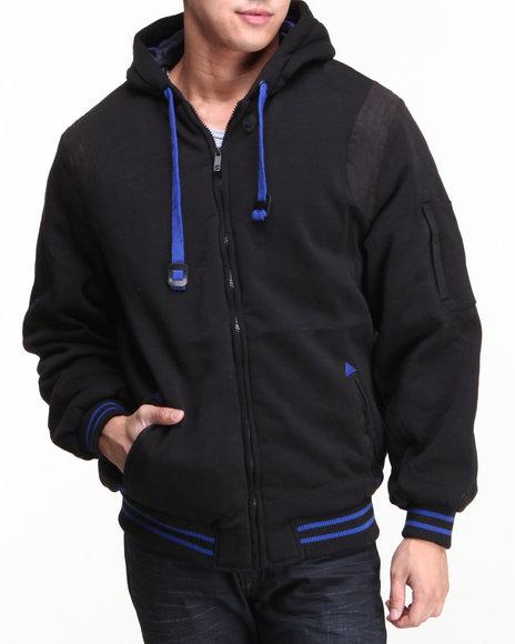 Basic Essentials Black Harvard Jacket With Hood