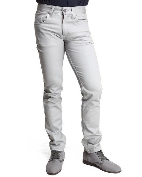 Buyers Picks - Men Grey Mens Skinny Stretch Denim Jeans