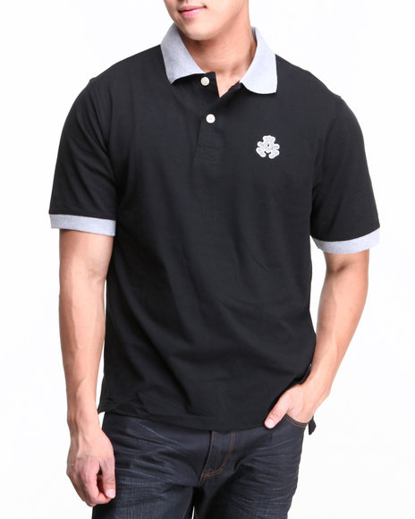 Akademiks Black Tony S/S Premium Polo Shirt