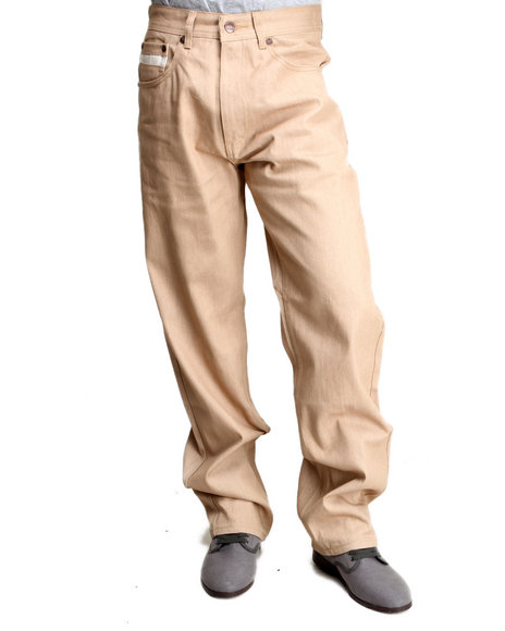 Akademiks - Men Khaki Liberty Color Denim Jeans