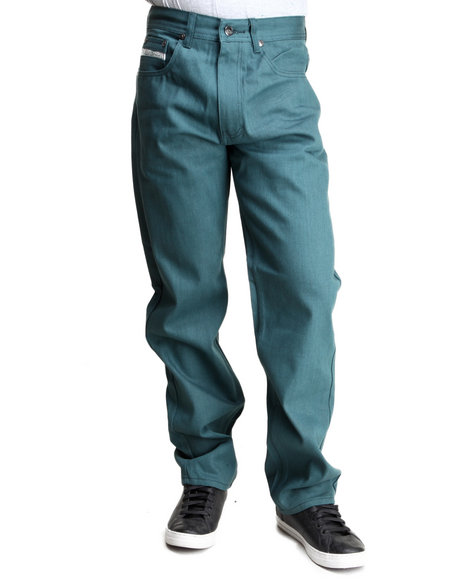 Akademiks - Men Green Liberty Color Denim Jeans