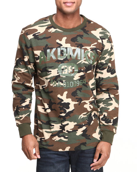 Akademiks Camo Bragg L/S Thermal Shirt