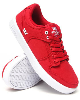 Supra - Vaider LC Red Canvas Sneakers (Kids)