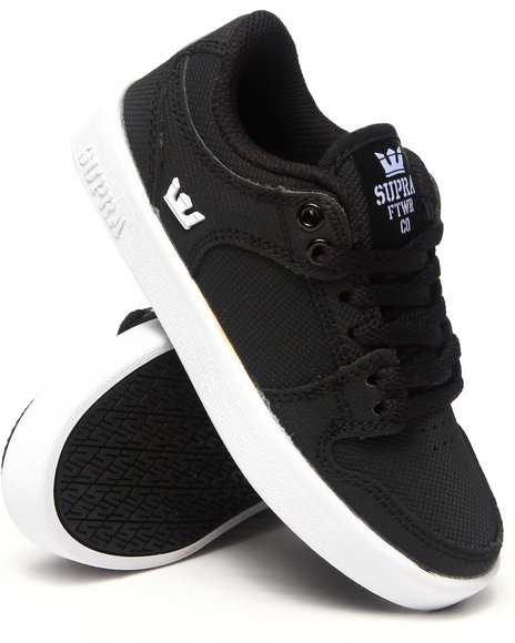Supra Boys Black Vaider Lc Black Raptor Pu Sneakers (Youth)