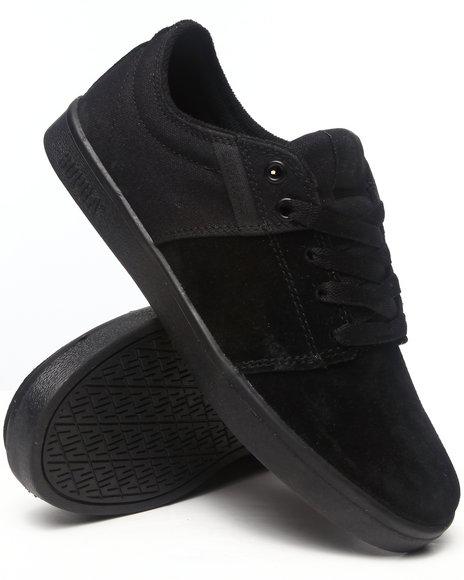 Supra - Men Black Stacks Black Suede/Canvas Sneakers