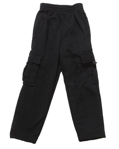 Arcade Styles Boys Black Cargo Fleece Pants (4-7)