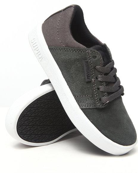 Supra Boys Grey Westway Grey Suede/Canvas Sneakers (Youth)