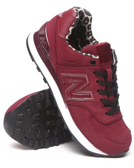 New Balance Maroon Women's High Roller 574 Sneakers